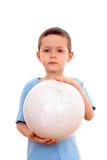 Enfant et globe Photos libres de droits