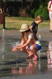 Enfant et la chaleur Photographie stock