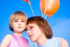 Enfant et mère Photographie stock
