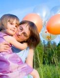 Enfant et mère Image stock