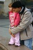Enfant et père Photos stock
