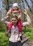 Enfant et tante photographie stock libre de droits