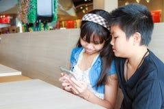 Enfant et technologie Image libre de droits