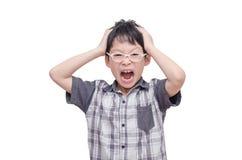 Enfant fâché criant images stock