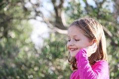 Enfant féminin heureux Photo libre de droits