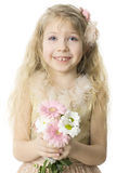 Enfant gai avec le sourire toothy Photo stock