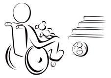Enfant handicapé Images libres de droits