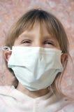 Enfant heureux avec le masque Photo stock