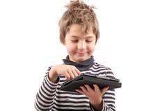 Enfant heureux de connaisseur Image stock