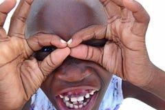Enfant heureux - Zanzibar, Tanzanie, Afrique Image libre de droits