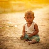 Enfant indien innocent photographie stock libre de droits