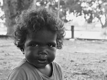 Enfant indigène de Tiwi, Australie Image stock
