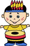 Enfant jouant le tambour illustration stock