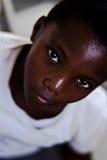 Enfant kenyan, yeux africains Images stock