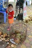 Enfant local de Vietnamien Photos libres de droits