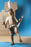 Enfant médiéval de chevalier Photos libres de droits