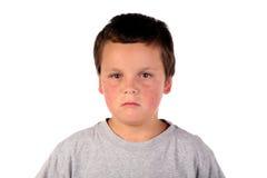 Enfant malade 3 de garçon Image libre de droits