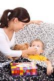 Enfant malade Images stock