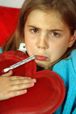 Enfant malade Image stock