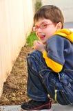 Enfant malfaisant Photo libre de droits