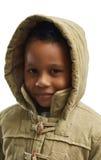 Enfant mignon dans le capot Photographie stock libre de droits