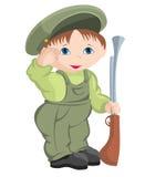 Enfant - militaires Photographie stock libre de droits