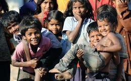 Enfant modifié avec de beaux coeurs et sourire doux Images libres de droits