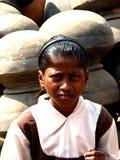 Enfant nerveux Images libres de droits