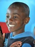 Enfant non identifié vivant dans le taudis de Mondesa Photos stock