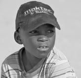 Enfant non identifié vivant dans le taudis de Mondesa Images stock