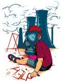 Enfant nucléaire Image libre de droits