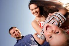 Enfant oblique Image stock