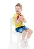Enfant passionné Photo stock