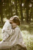 Enfant perdu Photographie stock