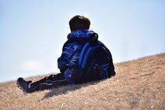 Enfant réfléchi Photo libre de droits