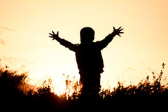 Enfant réussi et ambitieux image libre de droits