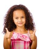 Enfant renonçant à des pouces photos stock