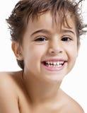 Enfant riant Photographie stock