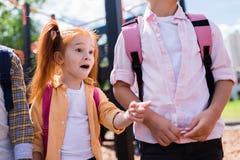 Enfant roux choqué Photographie stock libre de droits