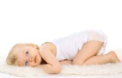 Enfant rêvant mignon calme Images libres de droits