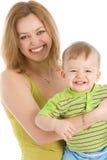 enfant ses petits femmes de sourire Image stock