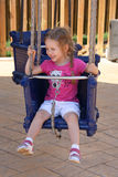 Enfant sur le tour de carnaval Photo stock