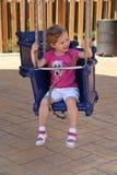 Enfant sur le tour de carnaval Photos stock