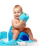 Enfant sur potty Image libre de droits