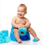 Enfant sur potty Photos libres de droits