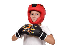 Enfant thaïlandais de boxe de Muay Photographie stock