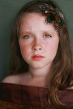 Enfant triste, ennuyé, de rêverie Photos libres de droits