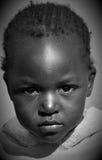 Enfant vivant dans le taudis de Mondesa Images stock