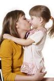 Enfantez et le descendant Photographie stock libre de droits