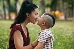 Enfantez le concept énorme d'enfant de parc de pique-nique d'amour du ` s Photo stock